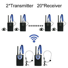 2.4G Digital Wireless Tour Guide System(2 transmitters and 20 receivers)