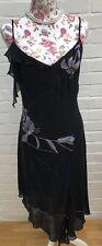 Karen Millen Black Silk Dress Size 10 12 Cocktail Evening Gatsby Beaded 40's