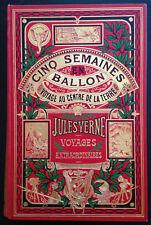 Cinq semaines en ballon - Voyage au centre de la terre / Jules Verne - Hetzel