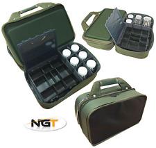NGT pesca carpa pieghevole Tackle Box Bivvy System Storage Case con 912 Glug Pots