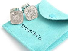 Tiffany & Co Silver Daisy Flower Cuff Link Cufflink Cufflinks!