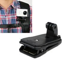 360° Rotary Backpack Hat Belt Clip Fast Clamp Mount for Gopro Hero 5 4 3+ 3 2 1