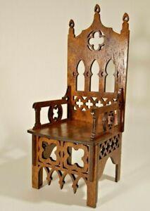 """Gothic Throne for BRB FR FR2 BJD Dolls 12"""" 1/6 furniture handmade diorama OOAK 3"""