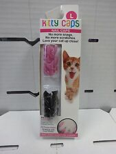 KITTY CAPS NAIL CAPS LARGE 20 PURPLE GLITTER / 20 BLACK W/ GOLD GLITTER