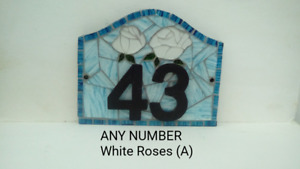 House Number Sign Roses