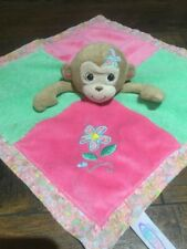 Mary Meyer Activity Lovey Pink Green Monkey Crinkle Security Blanket