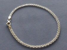 "Silver Ankle Bracelet -3mm- 050 New 11"" Bismark- Italy 925 Sterling"