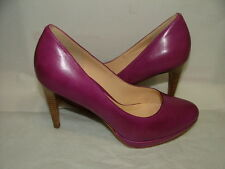 WOMENS COLE HAAN NIKE AIR CLASSICS PUMPS SIZE 7 C PURPLE LEATHER SOLID #031