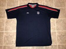 England Rare Umbro Vintage Jersey Kit Football Soccer Xlarge 90's Blue Classic