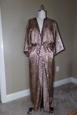 4dfd1386bb NATORI Private Luxuries LEOPARD Print LONG ROBE Silky Charmeuse Bust 54