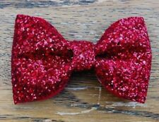 Christmas Hair Bow Sparkling Red Hair Clip Girls Accessories
