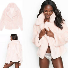 Victoria's Secret Faux Fur Coat Jacket Pink Medium M Super Soft New!