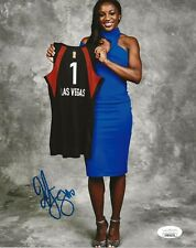 Jackie Young Notre Dame signed Las Vegas Aces 8x10 photo autographed Jsa