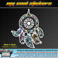 Dream Catcher 12cm High Vinyl Sticker Decal, 4X4 Ute Car Indian Feathers sleep