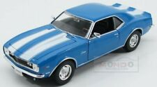 Chevrolet Camaro Z28 Coupe 1968 Light Blue White Welly 1:24 WE22448LB