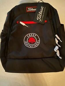 TITLEIST Players Black/Red Canvas Adjustable Strap BACKPACK- NWT