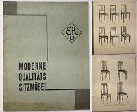 Original Katalog von Ernst Kreber Moderne Qualitäts Sitzmöbel um 1930 sf