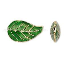 9943 Cloisonne Beads Leaf PK4 27x16mm *UK EBAY SHOP*