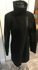 Marc New York by Andrew Marc Womens Black Wool Coat Size 6 Outerwear