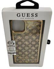 Genuine Guess Designer Liquid Glitter Gold Hard Case for iPhone XS Pro Max