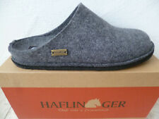 Haflinger Men's Slippers House Shoes Mules Grey New