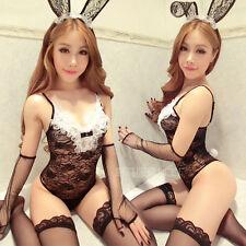 Costume Completino Coniglietta Rabbit Bunny Bunnies Nero Calze Cavallo Aperto