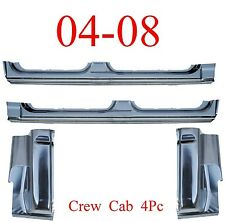 04 08 Crew Cab 4Pc Extended Rocker Panel & Cab Corner, Ford F150, Super Crew