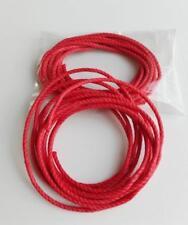 2 x 2,2 m Véritables Cordes neuves rouge ø 2.5 mm paraffinées horloge comtoise