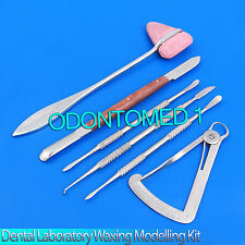 Dental Laboratory Kit Waxing Modelling Carvers Mixing Tools Stainless Steel
