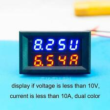 LED DC 0-30V 10A Dual Color Digital Voltmeter Ammeter Panel Volt Gauge Meter