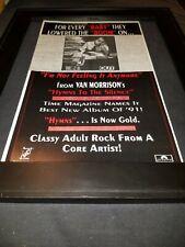 Van Morrison I'm Not Feeling It Anymore Rare Radio Promo Poster Ad Framed! #2
