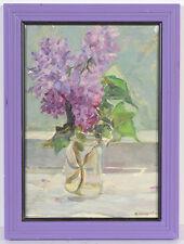 "Vladimir Sinitski (b.1896) ""Lilac"", Oil Painting, 1951"