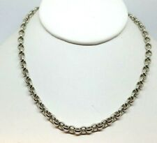 """Sabika classic & rolo Link Chain Choker Necklace Silver 18.5"""" long adjustable"""