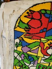 Vtg Completed Hand Made Chagall Needlepoint Finished Tapestry