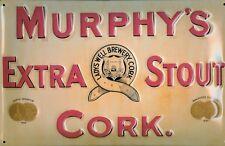 Murphys Extra Stout Cork LAMIERA SCUDO SCUDO 3d caratterizzato Tin Sign 20 x 30 cm