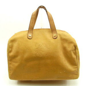 Loewe Boston bag Monogram Mini Agenda Brown Woman Authentic Used Y5083