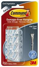 3M Command 4pk Large Clear Flat Cord Clip With Clear Adhesive Strips 17305CLR