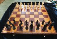 Vintage Bakelite Camelot Chess Set Weighted E S Lowe Design Large Board Box