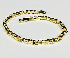 "18k Solid Yellow Gold Men's Fashion Link chain/Bracelet 8"" 4.5 mm 29 grams"