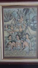 Traditional original Udub in Bali painting Indonesian Art Landscape