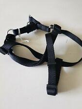 Medium Black Nylon Dog Harness