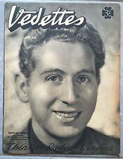 Magazine VEDETTES Théatre Radio Cinéma CHARLES TRENET n°15 1941