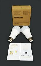 2 Pack Smart Light Bulb Lights Dimmable E26 E27 Alexa Google Color Change Remote