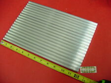"""18 Pieces of 7/16"""" 6061 T6511 ALUMINUM SOLID ROUND 12"""" long Cut New .44"""" OD"""