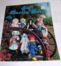 VTG 1983 HOW TO MAKE CLOTH DOLLS BOOKLET Soft Darlin Dolls FULL SIZE PATTERNS