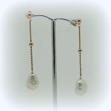 Orecchini pendenti perla barocca argento 925