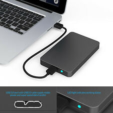 "5Gbps Fast USB 3.0 External SATA 2.5"" Hard Drive Enclosure HDD Box Case ToolFree"