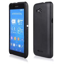 Coque rigide Leather-Look aspect cuir coloris noir pour Sony Xperia E  4G