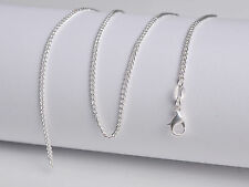 1PCS Wholesale 18inch Fashion Jewelry Lot 60% Silver Flat Curb Chain Necklaces