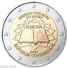 Austria 2 euro 2007 50th Anniversary - Treaty of Rome KM# 3150  UNC from roll